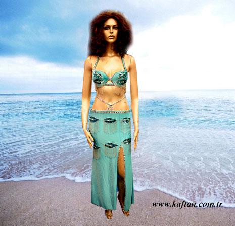 Turkuaz Oryantal kostüm