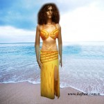 Oryantal Elbisesi altın renk perküsyon
