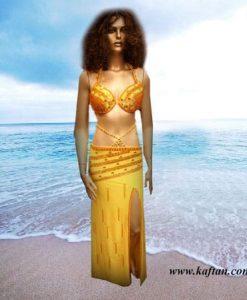 Oryantal Elbisesi altın renk