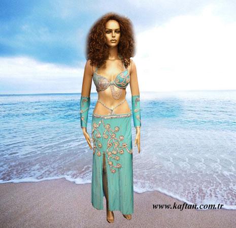 Dansöz kıyafeti- Oryantal kostüm Perküsyon DE-09 - Erhan Kaftan & Bindallı