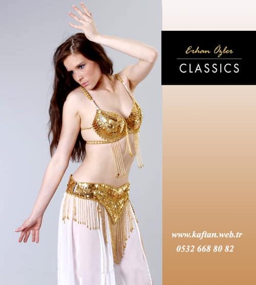 Haifif Dansöz Elbisesi Altın renk