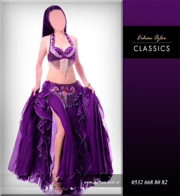 Seksi dansöz elbisesi mor