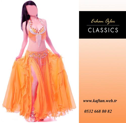 Dansöz kostümü turuncu renk