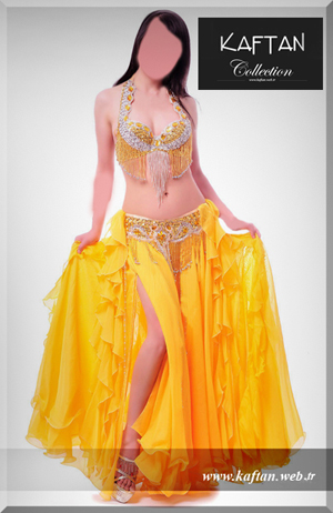 Dansöz elbisesi sarı renk