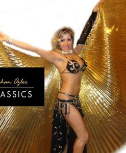 Altın yaldızlı dansöz pelerini