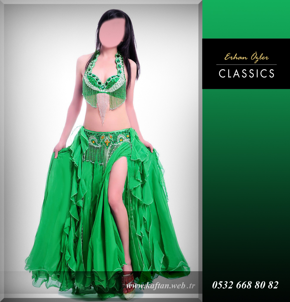 Dansöz oryantal kostüm zümrüt