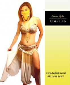 Beyaz dansöz kıyafeti DE - 38 - Erhan Kaftan & Bindallı