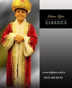 Erkek çocuk padişah kıyafeti