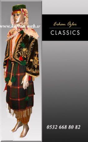Burdur yöresi bayan folklor kıyafeti