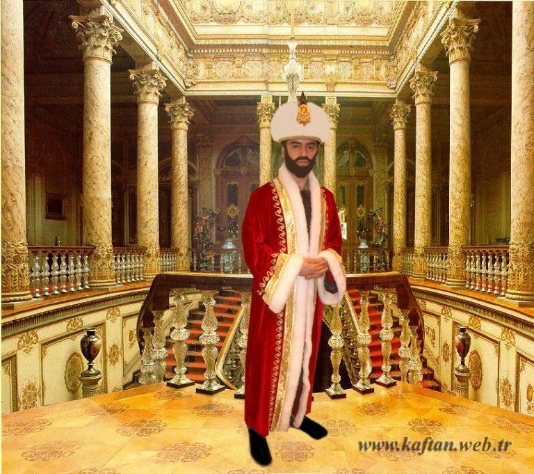 Osmanlı kıyafeti kırmızı kadife