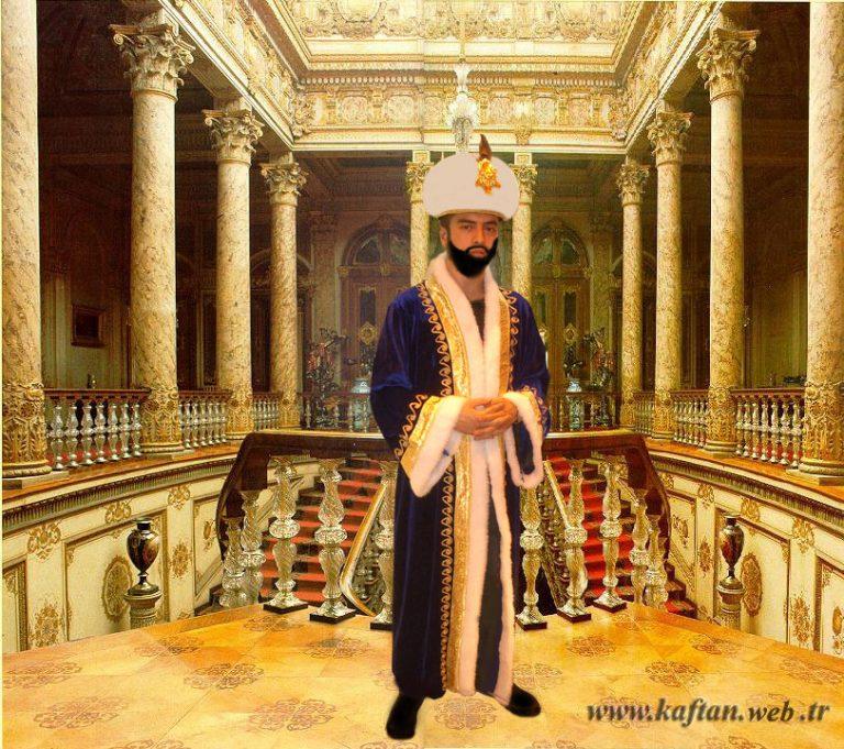 Osmanlı kostümleri lacivert renk