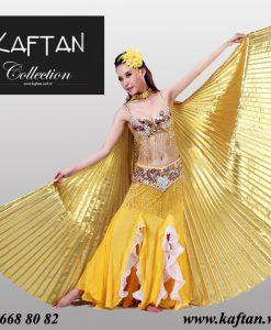 Dansöz aksesuarı altın renk pelerin