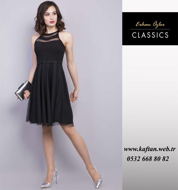 b4ce266a247a6 Siyah kısa abiye - Siya abiye elbiseler   Kaftan collection