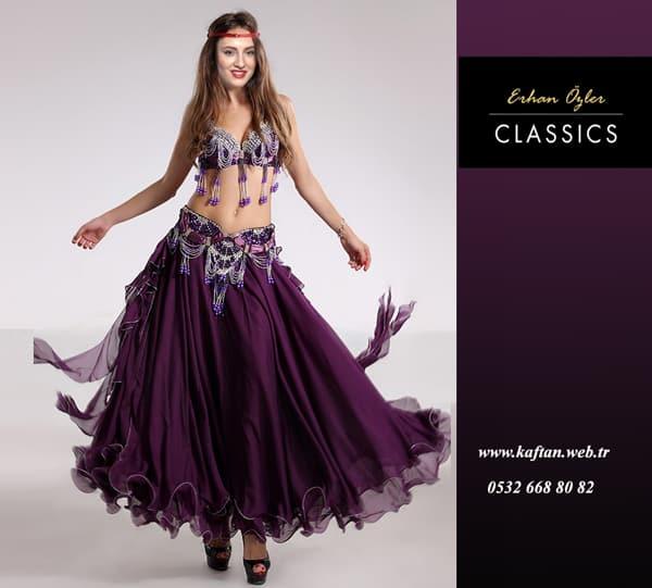 5be41e7082500 Mor püsküllü dansöz elbisesi - Dansöz kıyafet çeşitleri | Kaftan ...