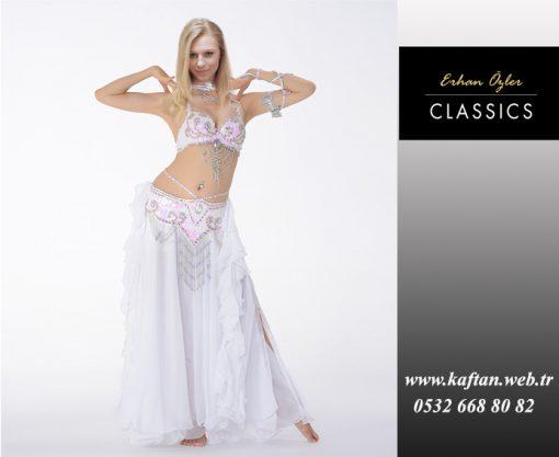 Beyaz ipli dansöz elbisesi