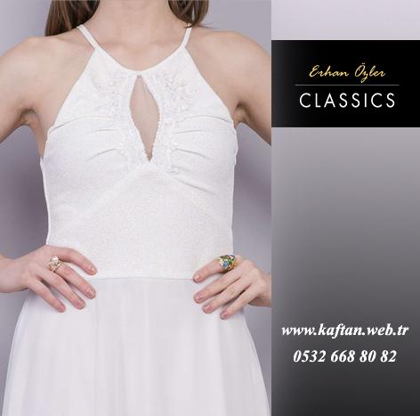 Beyaz abiye elbise
