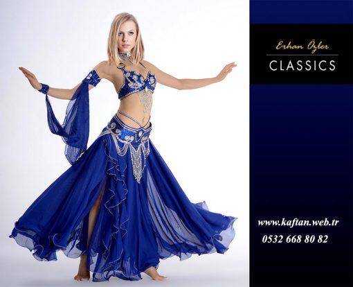Mavi dansöz kıyafeti