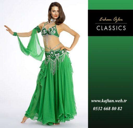 Yeşil dansöz kıyafeti