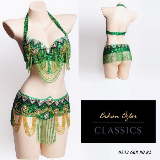 Yeşil Oryantal kostümü